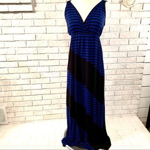 Spense Black and Blue Maxi dress - size Medium